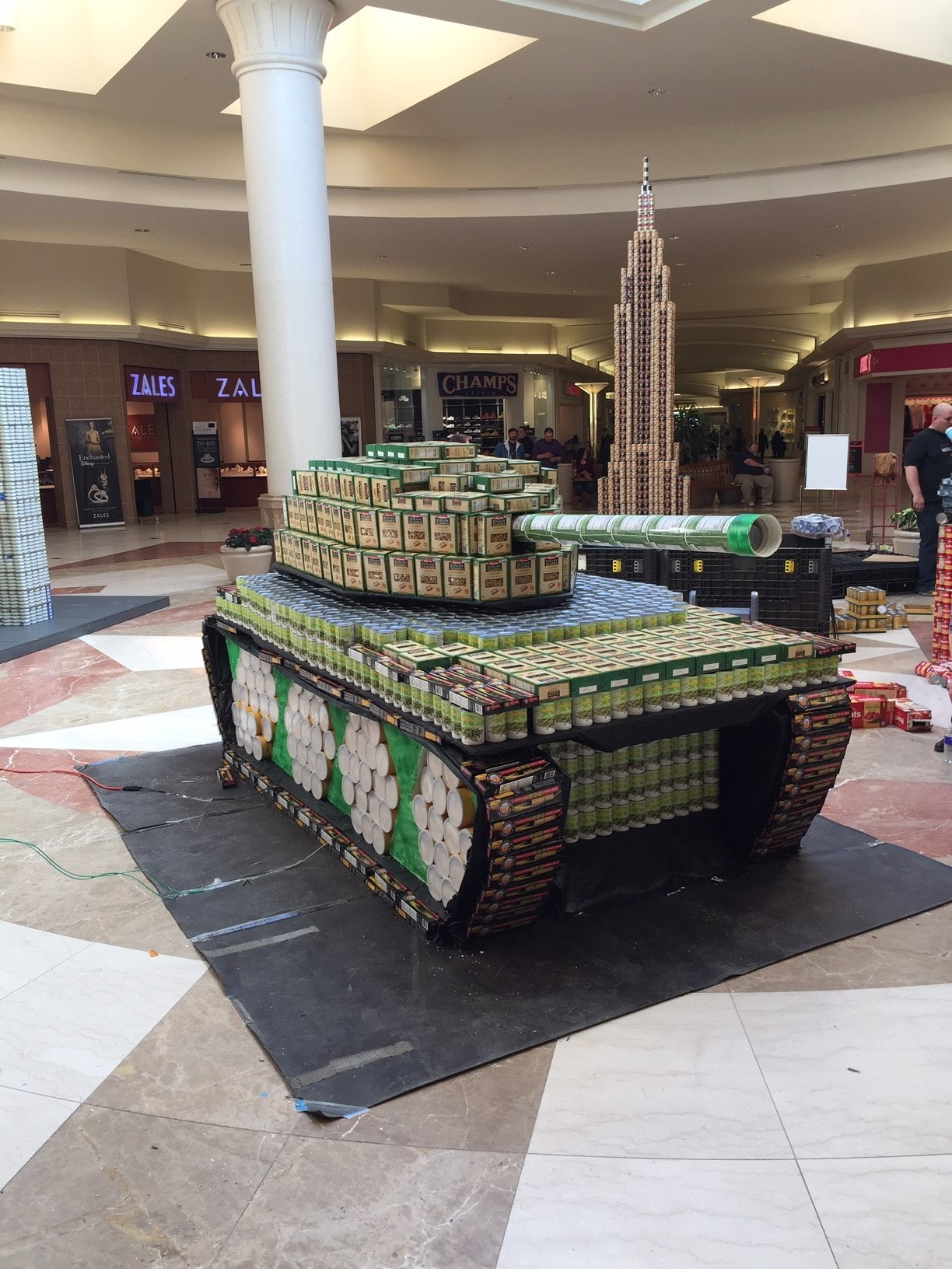 BT BOCES Lockheed Martin Structure 1 - Canstruction