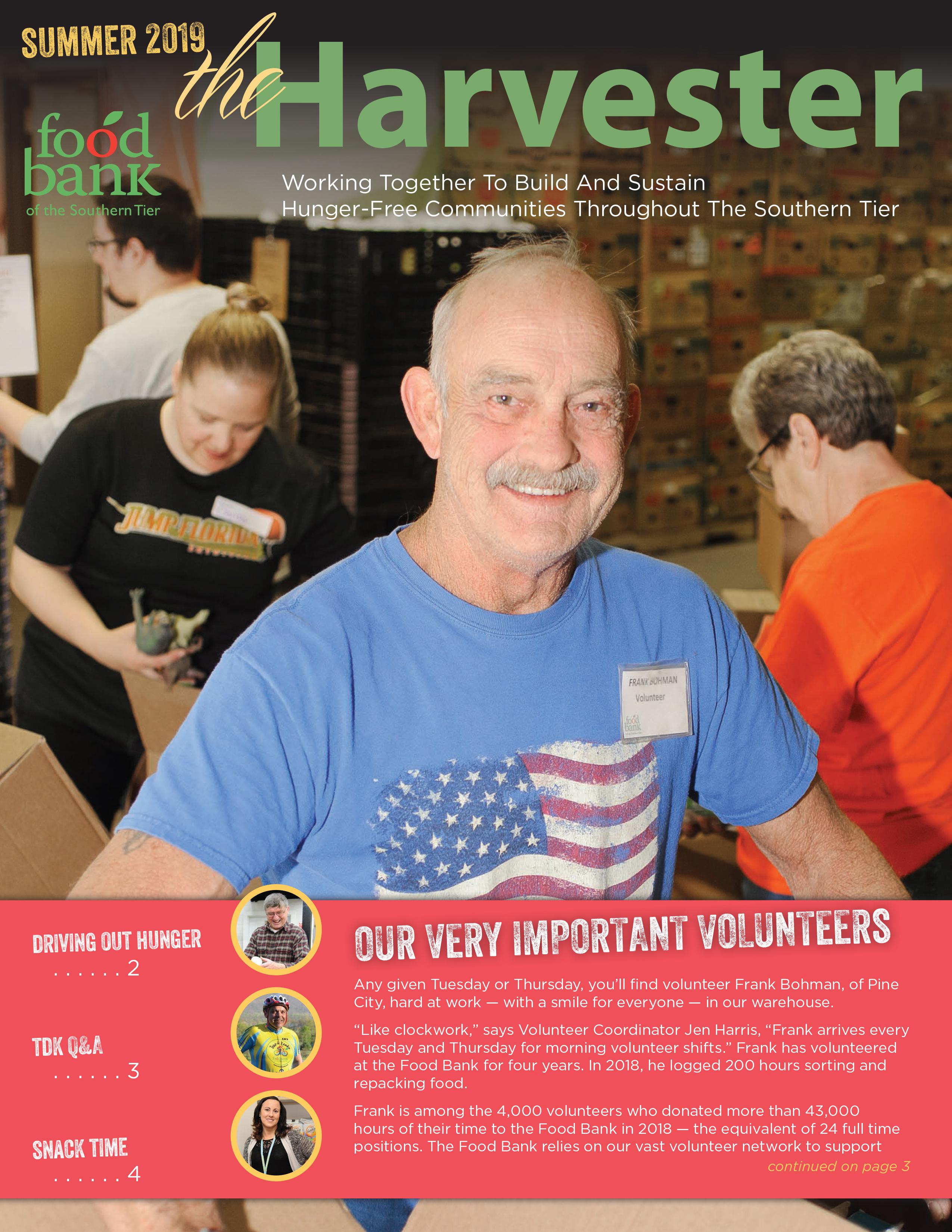 Harvester June19 cover - Newsletter