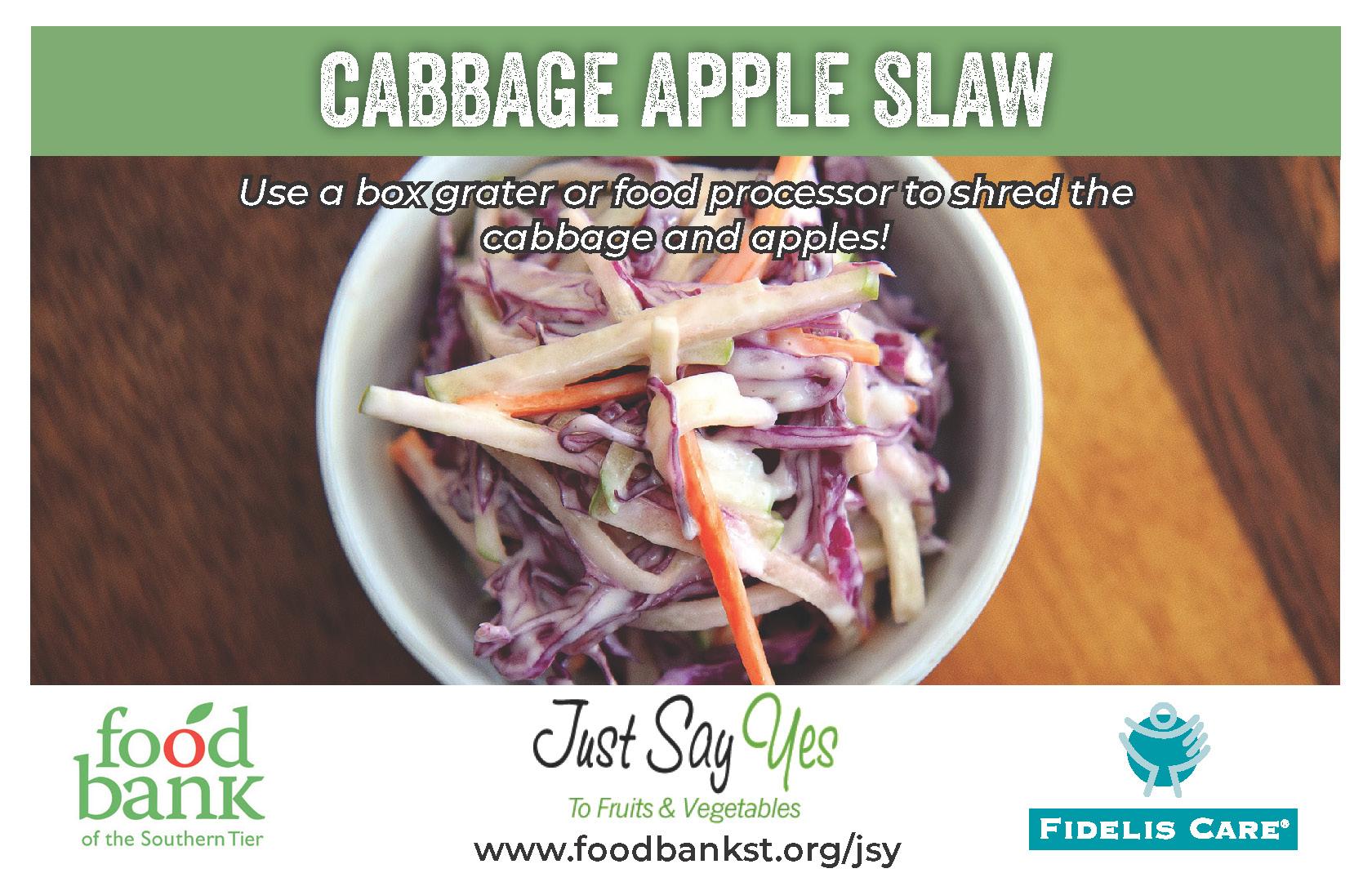 cabbage apple slaw - JSY