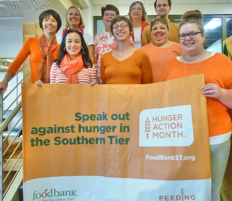 foodbankst hunger action month group photo - Hunger Action Month