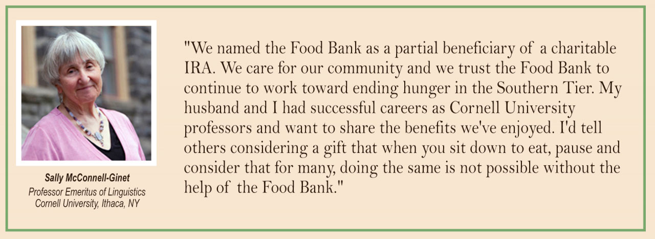 foodbankst ways to give leave a legacy sally ginnet - Leave A Legacy