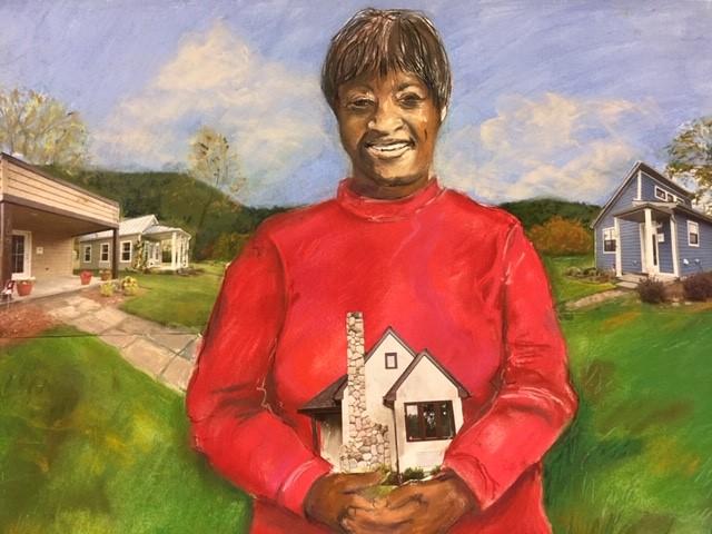 josephine painting - Tiny homes, big vision